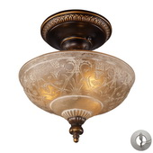 Golden Bronze Semi Flush - MEK2888