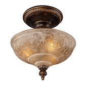 Golden Bronze Semi Flush - MEK2887
