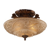 Golden Bronze Semi Flush - MEK2889