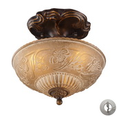 Golden Bronze Semi Flush - MEK2892