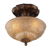 Golden Bronze Semi Flush - MEK2891