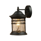 Matte Black Outdoor Sconce - MEK2895