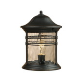 Matte Black Outdoor Post Light - MEK2897
