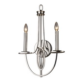 Polished Nickel Wall Sconce - MEK2969