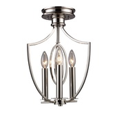 Polished Nickel Semi Flush - MEK2970