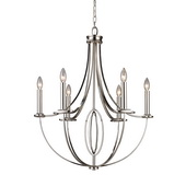 Polished Nickel Chandelier - MEK2986