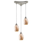 Satin Nickel Pendant - MEK3015