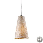 Satin Nickel Pendant - MEK3020