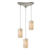 Satin Nickel Pendant - MEK3056