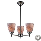 Polished Chrome Chandelier - MEK3335