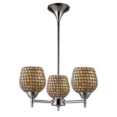 Polished Chrome Chandelier - MEK3342