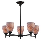 Dark Rust Chandelier - MEK3373