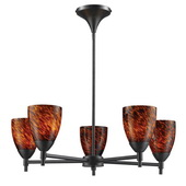 Dark Rust Chandelier - MEK3375