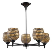 Dark Rust Chandelier - MEK3377