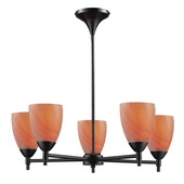 Dark Rust Chandelier - MEK3385