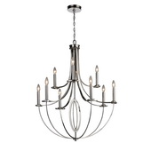 Polished Nickel Chandelier - MEK3414