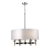Polished Nickel Chandelier - MEK3416