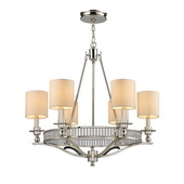 Polished Nickel Chandelier - MEK3417
