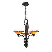 Weathered Rust Chandelier - MEK3452