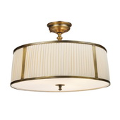 Vintage Brass Patina Semi Flush - MEK3748