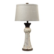Distressed Pearlescent With Rust Table Lamp - MEK2207