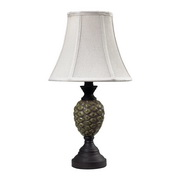 Aged Green Glaze With Antique Bronze Mini Lamp - MEK2209