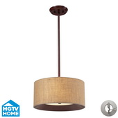 Dark Walnut Semi Flush - MEK4082