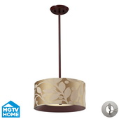 Dark Walnut Semi Flush - MEK4086