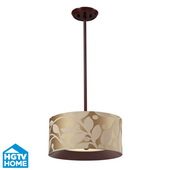 Dark Walnut Semi Flush - MEK4085