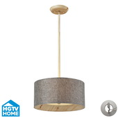 Washed Pine Semi Flush - MEK4094