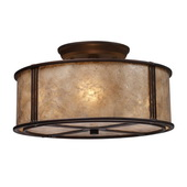 Aged Bronze Semi Flush - MEK4205