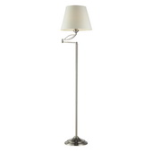 Satin Nickel Floor Lamp - MEK2225