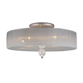 Antique Silver Semi Flush - MEK4454