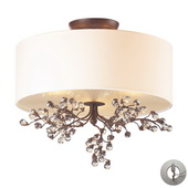 Antique Darkwood Semi Flush - MEK4497