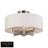 Satin Nickel Semi Flush - MEK4515