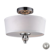Polished Chrome Semi Flush - MEK4941