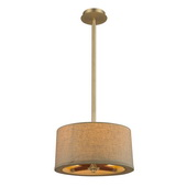 Satin Brass Semi Flush - MEK4971