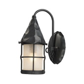 Matte Black Outdoor Sconce - MEK5255