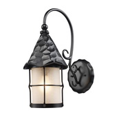 Matte Black Outdoor Sconce - MEK5264