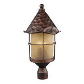 Antique Copper Outdoor Post Light - MEK5267