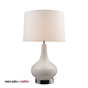 White & Chrome Table Lamp - MEK2231