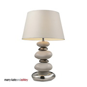 Pure White And Chrome Table Lamp - MEK2232