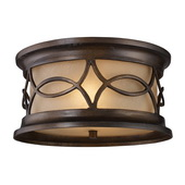 Hazelnut Bronze Outdoor Flushmount - MEK5402