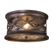 Hazelnut Bronze Outdoor Flushmount - MEK5418