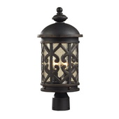 Weathered Charcoal Outdoor Post Light - MEK5423