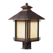 Hazlenut Bronze Outdoor Post Light - MEK5433