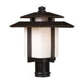 Hazlenut Bronze Outdoor Post Light - MEK5446
