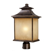 Hazlenut Bronze Outdoor Post Light - MEK5451