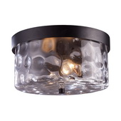 Hazelnut Bronze Outdoor Flushmount - MEK5456