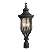 Weathered Charcoal Outdoor Post Light - MEK5458